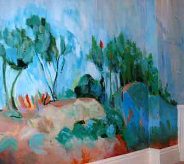 Cezanne inspired mural