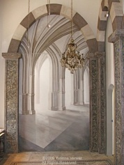 """Trompe l'oeil """"Arches"""" Mural. Linda Horn, LLC, Madison Ave, NYC"""