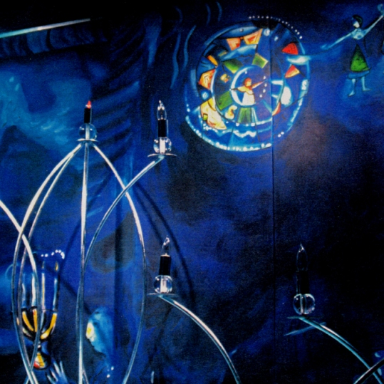 Chagall Homage - Bloomingdale's NYC, Chanukah window