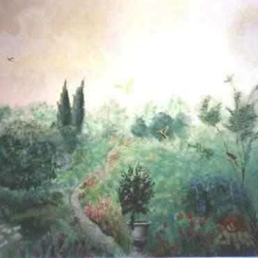 English Garden Mural
