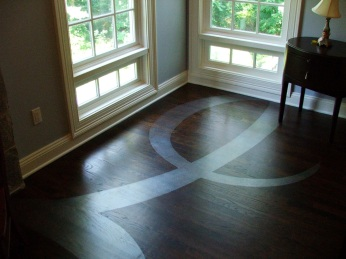 Floor painting, Greenwich, CT