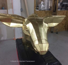Macys - Deer head gilded