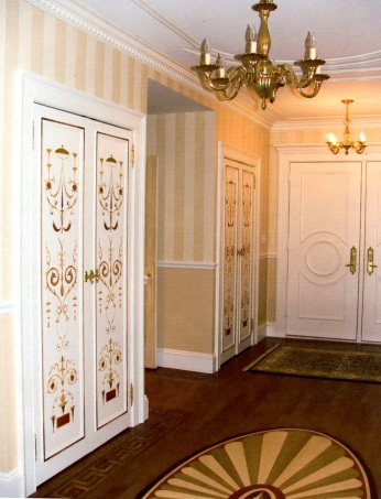 Vendome Apartments, NYC - stencilled doors