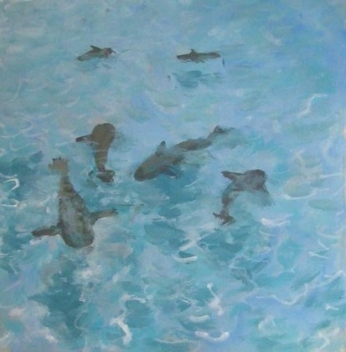Sharks Mural - Highbourne Cay Resort