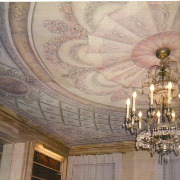 Ceiling Painting in private library
