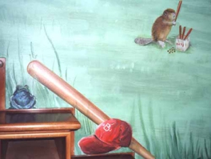 Baseball Mural (detail) Boys' Room