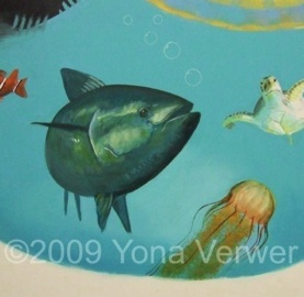 Playroom Mural Detail