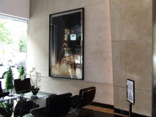 Venetian Plaster at lobby of luxury Upper West Side condo