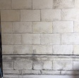 Weathered wall for jeans commercial