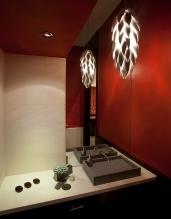 Red glaze wall, Rosnajin Restaurant, NYC