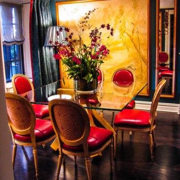 Oriental Murals in 19th Century Brownstone Diningroom