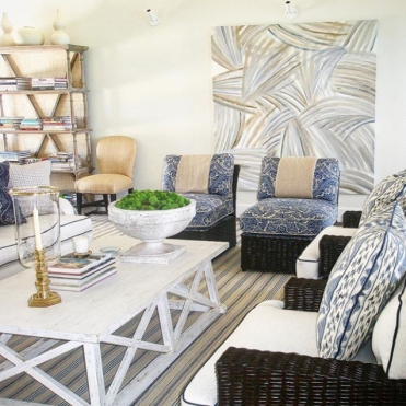 Palm Leaves Mural, Highbourne Cay