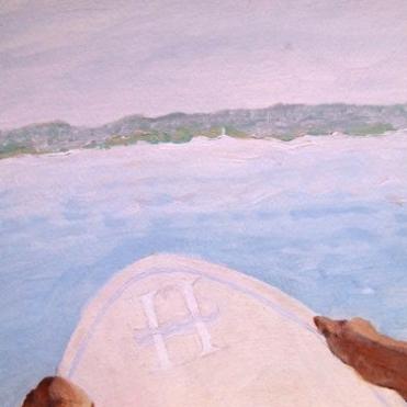 Surfer Mural, Highbourne Cay
