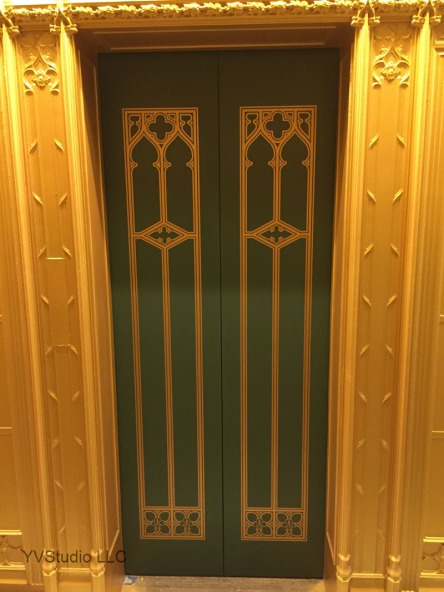 Doors restored to their original state.