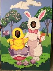 Easter event: sandwich board at Rockefeller Plaza