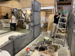 Miley Cyrus set being painted at The 4x8 Workshop